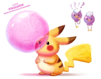 Фото Два покемона смотрят на Pikachu / Пикачу из аниме Pokemon / Покемон (Pikachew), by Cryptid-Creations