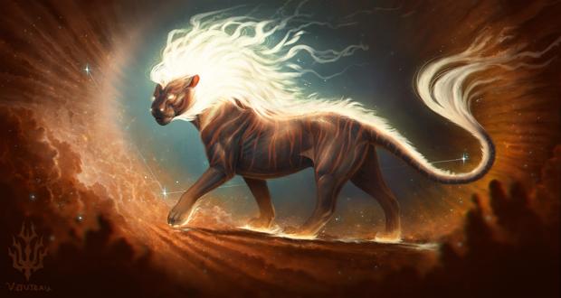 Фото Тигр со светящейся гривой, by Ryukurei