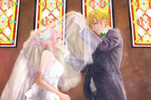 Фото Свадьба Ryouta Kise / Кисе Рета и Momoi Satsuki из аниме Баскетбол Куроко / Kuroko no Basuke, by Azalea Cherry