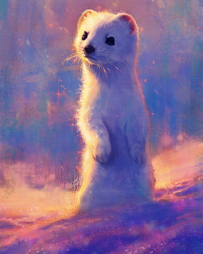 Фото Рисованный горностай, by TamberElla