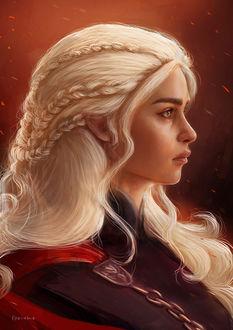Фото Портрет Daenerys / Дейенерис из сериала Игра престолов / Game of Thrones, by Geirahod