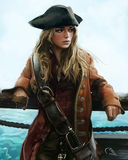 Фото Elizabeth Swann / Элизабет Суонн - персонаж из цикла фильмов Пираты Карибского моря, by Ivan Talavera