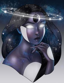 Фото Портрет девушки с планетами, by Ataraxicare
