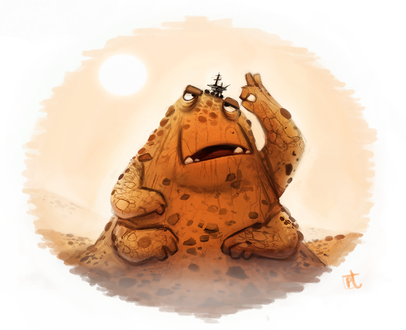 Фото Земляной монстрик пытается избавиться от марсохода, by Cryptid-Creations