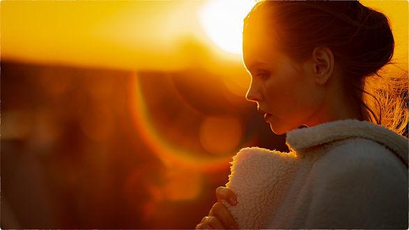 Фото Модель Анастасия Щеглова на фоне заката, фотограф Frederic Wojcik