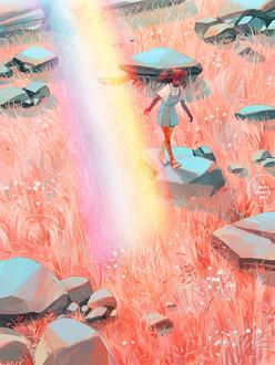 Фото Девушка стоит на камне