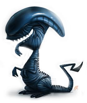 Фото Персонаж из фильма Alien / Чужой, by Cryptid-Creations