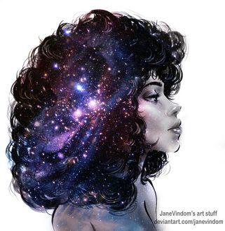 Фото Девушка с космическими волосами, by JaneVindom