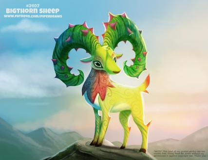 Фото Горный козел на камне (Bigthorned Sheep), by Cryptid-Creations