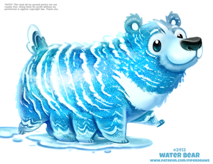 Фото Водяной медведь (Water Bear), by Cryptid-Creations