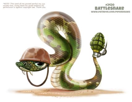 Фото Гремучая змея с гранатой (Battlesnake), by Cryptid-Creations
