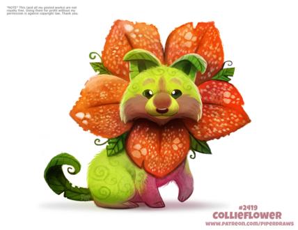 Фото Цветочный пес (Collieflower), by Cryptid-Creations