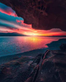 Фото Вид на великолепный закат над морем, by calibreus