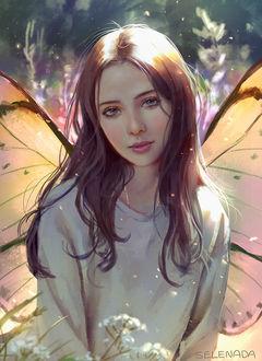 Фото Девушка с крылышками бабочки, by Selenada