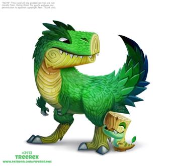 Фото Деревянные динозавры (Tree Rex), by Cryptid-Creations