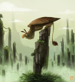 Фото Птица сидящая на дереве, by Cryptid-Creations