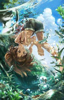 Фото Девочка под водой