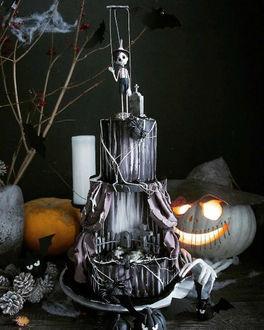 Фото Оригинальный торт в стиле Halloween от Elena Gnut