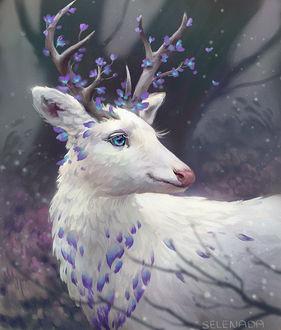 Фото Олень с цветущими рогами, by Selenada