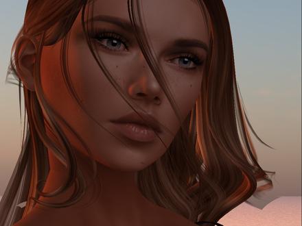 Фото Портрет девушки c длинными волосами и задумчивым взглядом, by 6D6F6