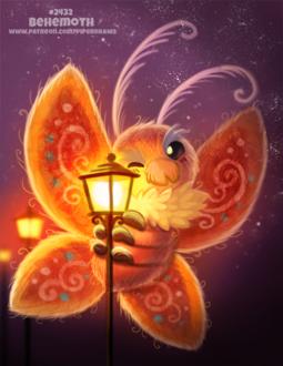 Фото Огромная ночная бабочка обнимает фонарь (Behemoth), by Cryptid-Creations