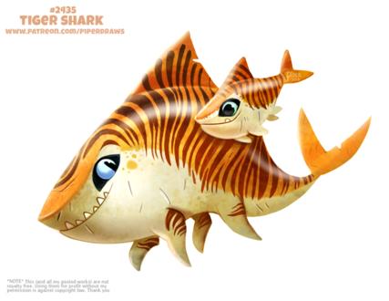 Фото Тигровая акула (Tiger Shark), by Cryptid-Creations
