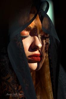 Фото Модель Lisa Maria Holm в черной шали, by Mercedes Castillo Sаnchez