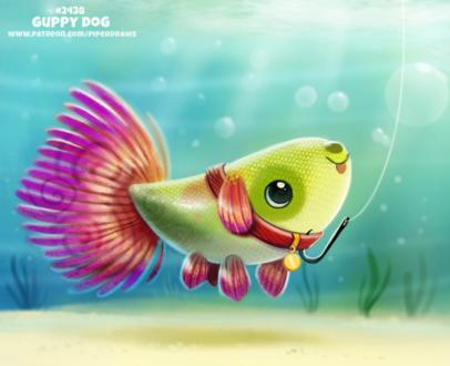 Фото Гуппи на ключке (uppy Dog), by Cryptid-Creations