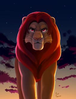 Фото Симба, главный персонаж мультфильма Король лев / The Lion King, by EeviArt