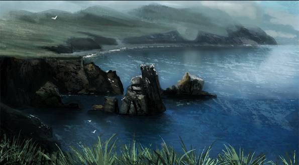 Фото Горы вокруг море, by Cryptid-Creations