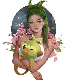 Фото Девушка с покемоном, by Jyundee