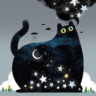Фото Милый звездный кот, by Little Oil