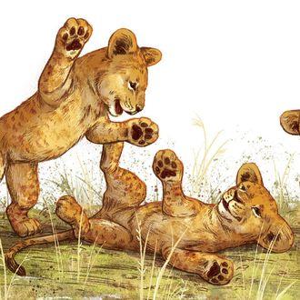 Фото Играющие маленькие львята, by kaylaharren