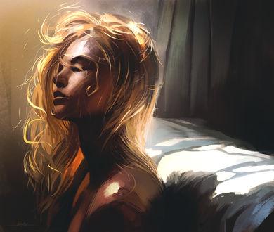 Фото Девушка сидит у кровати, by Kirk Quilaquil