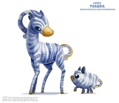 Фото Чайный сервис-зебры (Teabra), by Cryptid-Creations