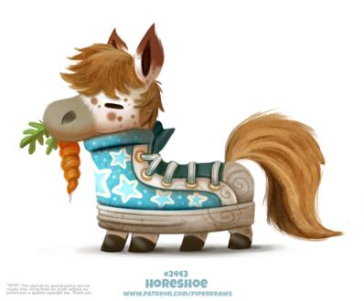 Фото Лошадь-красовок с морковкой (Horseshoe), by Cryptid-Creations