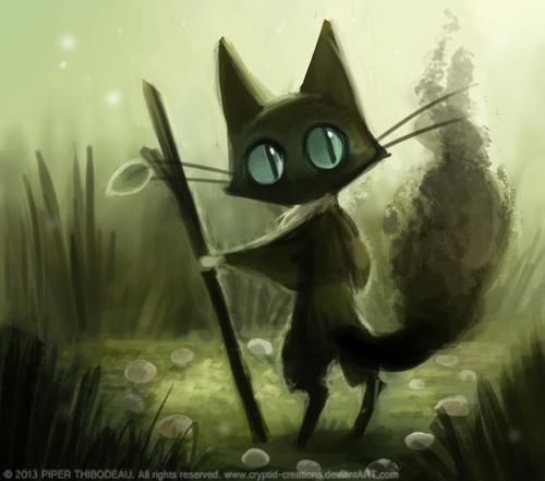 Фото Голубоглазый черный кот, by Cryptid-Creations