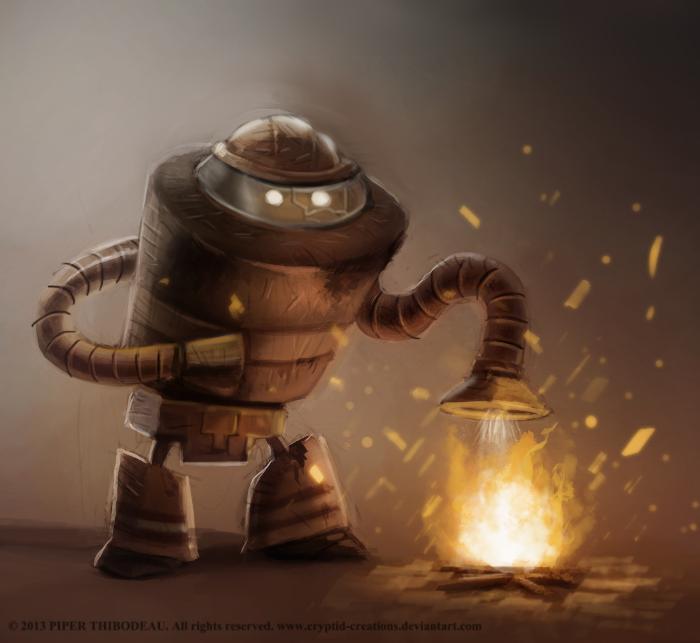 Фото Робот тушит огонь воздухом, by Cryptid-Creations