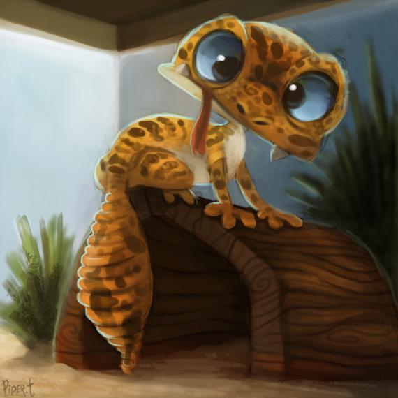 Фото Леопардовый геккон, by Cryptid-Creations