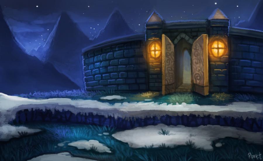 Фото Ночное небо над домов, by Cryptid-Creations