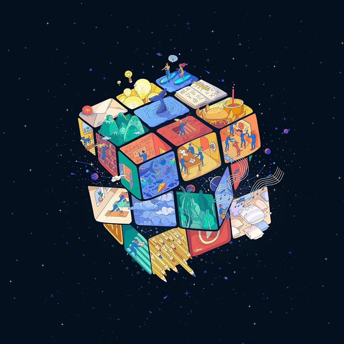 тоньше картинки на телефон кубик рубик скорой есть