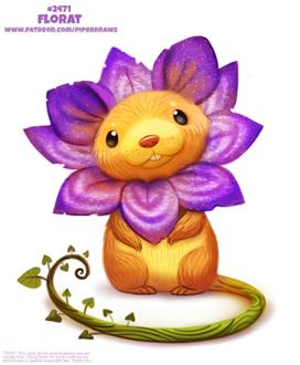 Фото Крыска-цветочек (Florat), by Cryptid-Creations