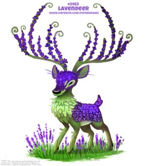 Фото Олень с сиреневыми цветами (Lavendeer), by Cryptid-Creations