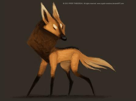 Фото Гривастый волк на темном фоне, by Cryptid-Creations