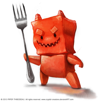 Фото Желейный демон с вилкой, by Cryptid-Creations