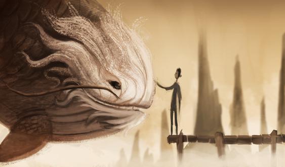 Фото Человек рядом с большой рыбкой, by Cryptid-Creations