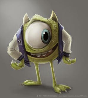Фото Mike Wazowski / Майк Вазовски из мультфильма Monsters University / Университет монстров, by Cryptid-Creations