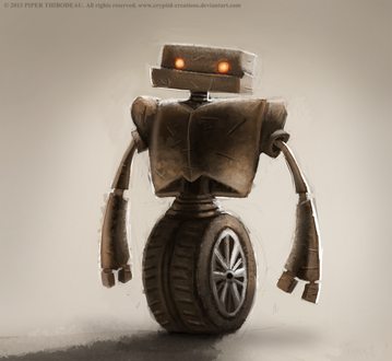 Фото Робот на колесе, by Cryptid-Creations