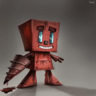Фото Красный робот, by Cryptid-Creations