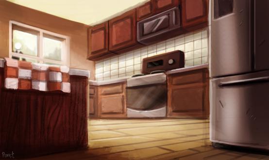 Фото Обставленная кухня, by Cryptid-Creations